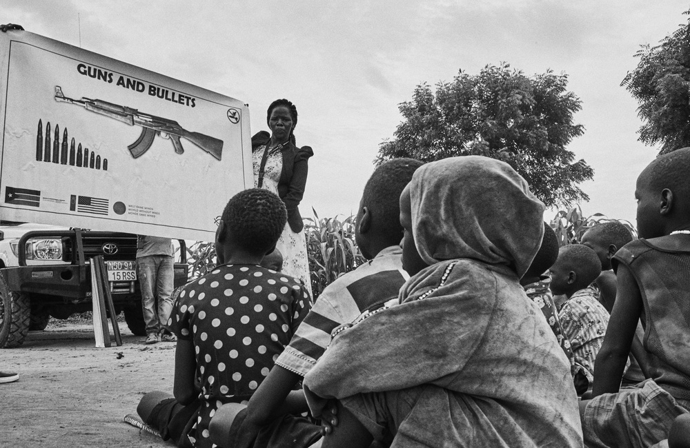 A piece of fine art art photography titled At Work In South Sudan by Jan Møller Hansen