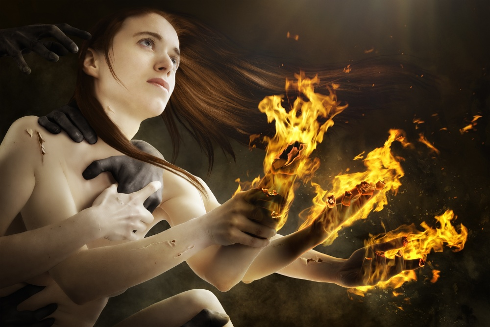 A piece of fine art art photography titled Burnout by Christophe Kiciak