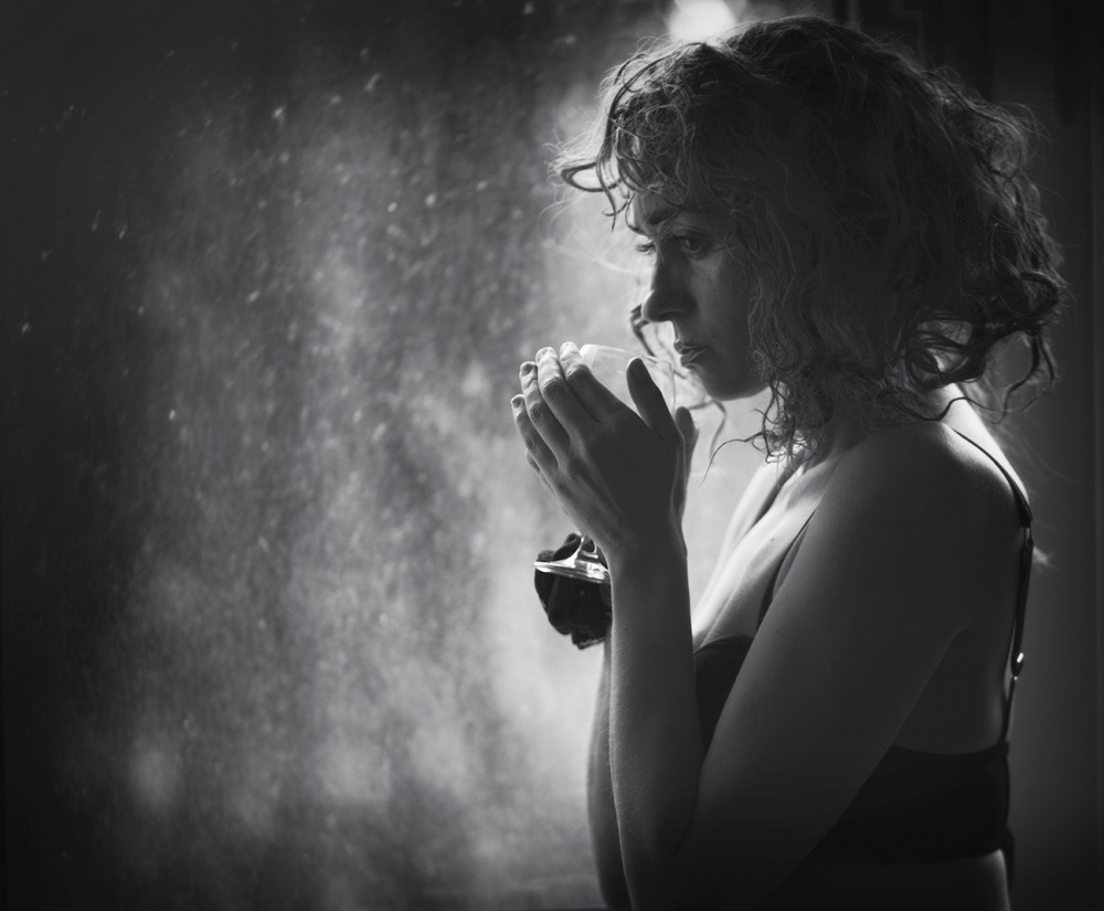 A piece of fine art art photography titled With Thoughts by Edyta Pekala