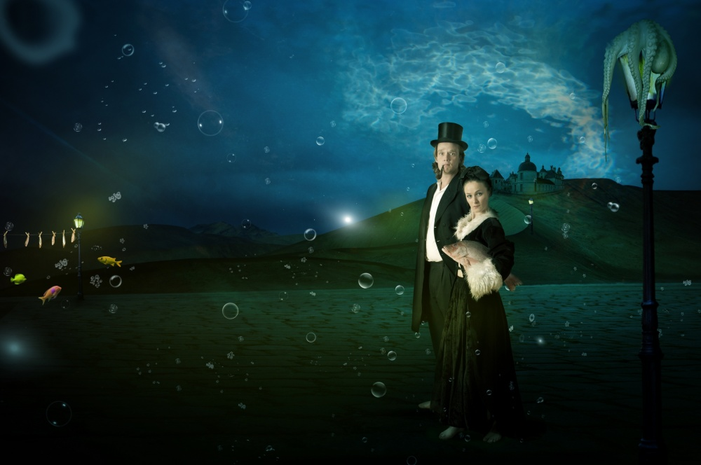 A piece of fine art art photography titled Underwater-Walk by Christine von Diepenbroek