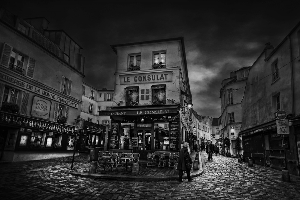 A piece of fine art art photography titled The Streets of Montmartre by Jose C. Lobato