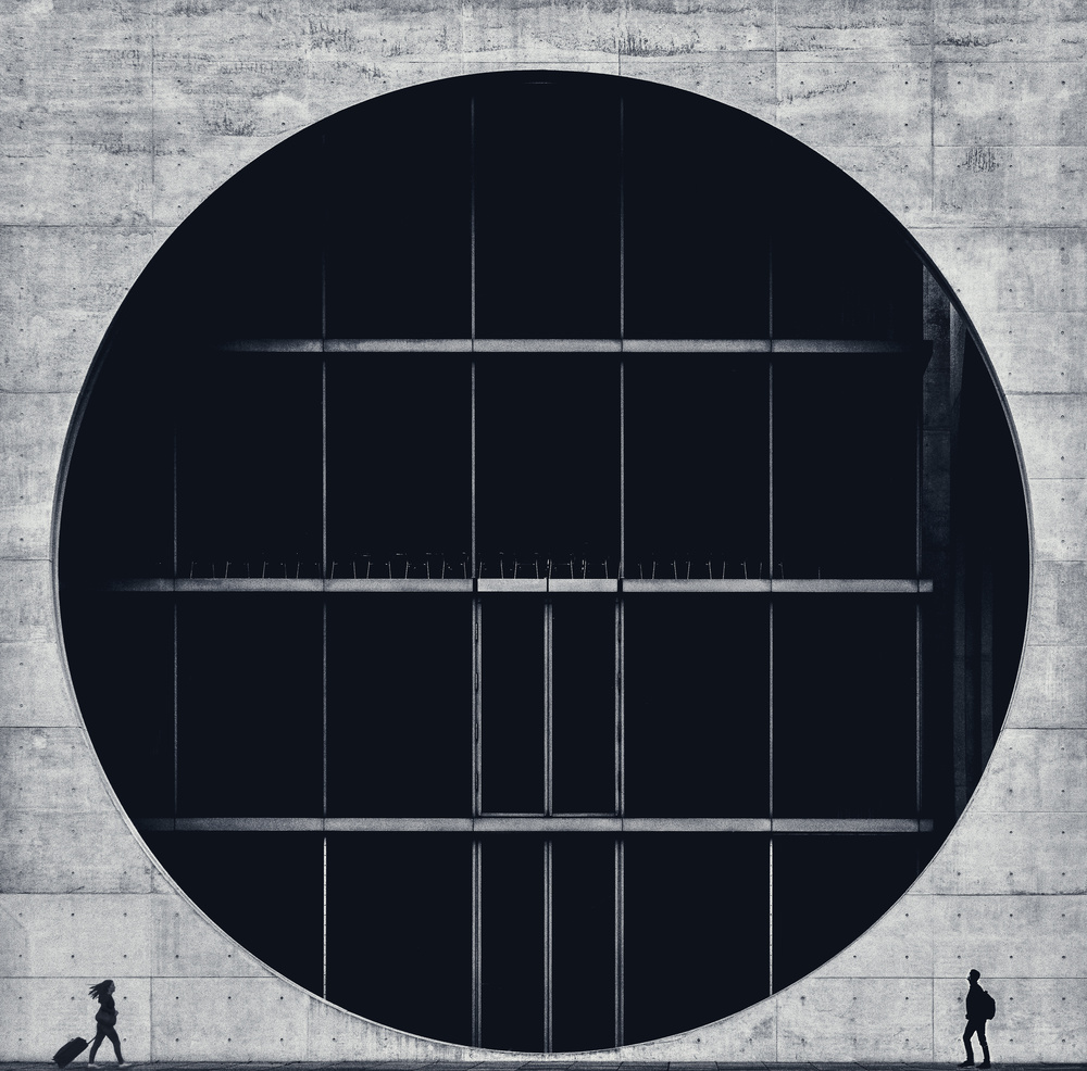 A piece of fine art art photography titled Encounter by Alexander Schönberg