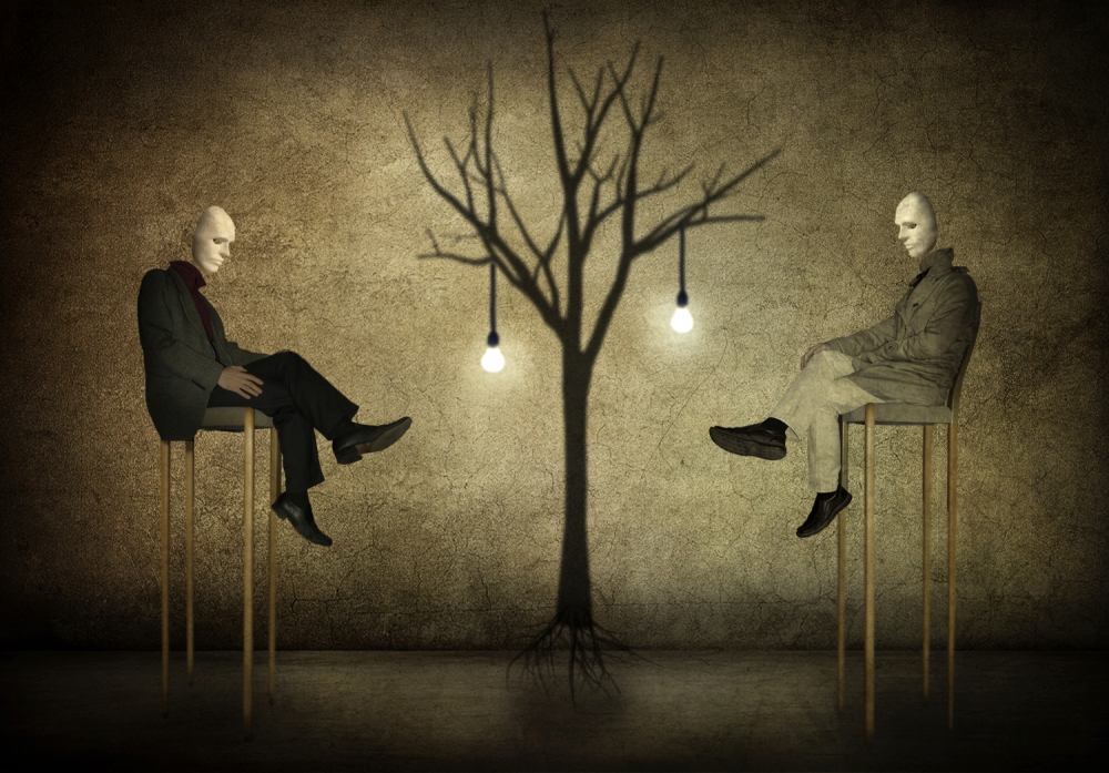 A piece of fine art art photography titled The Dialogue by Kaveh Hosseini (Steppenwolf)