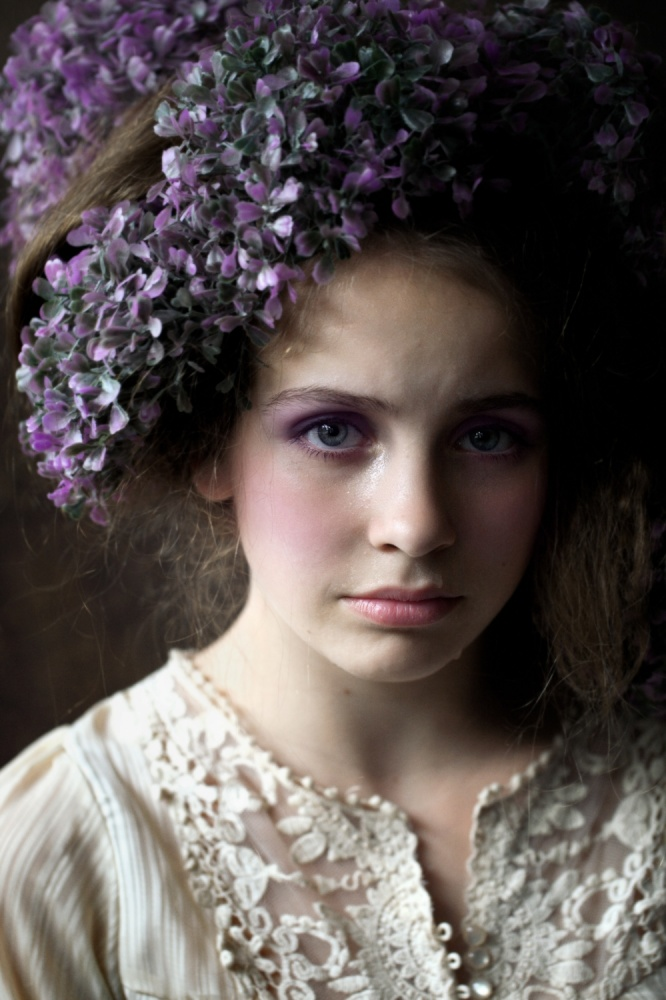 A piece of fine art art photography titled Sad Young Bride by Marian Korte