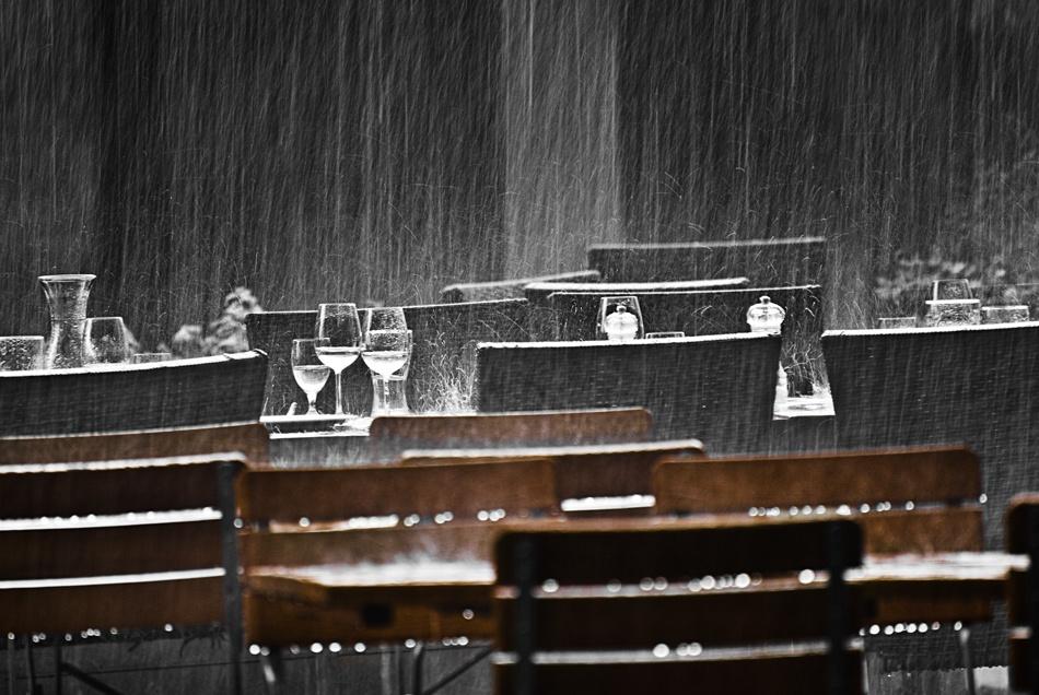 A piece of fine art art photography titled November Rain by Harald Bildner