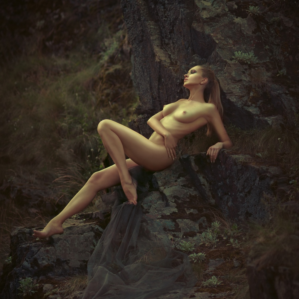 A piece of fine art art photography titled Rocky Slumber by Alexander Pereverzov