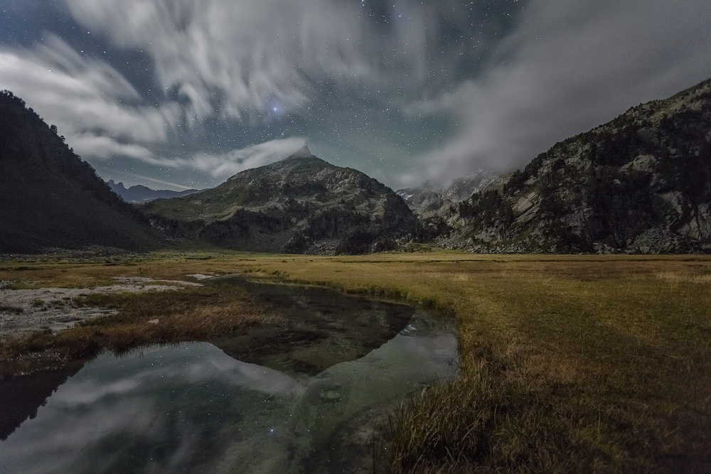 A piece of fine art art photography titled Night Mountain by Oscar Simon Navarrete