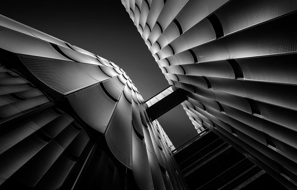 A piece of fine art art photography titled Black Waves by Jef Van den Houte