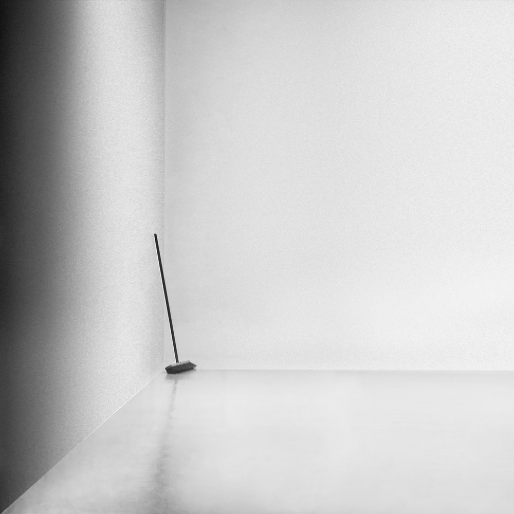 A piece of fine art art photography titled The Broom by Gilbert Claes