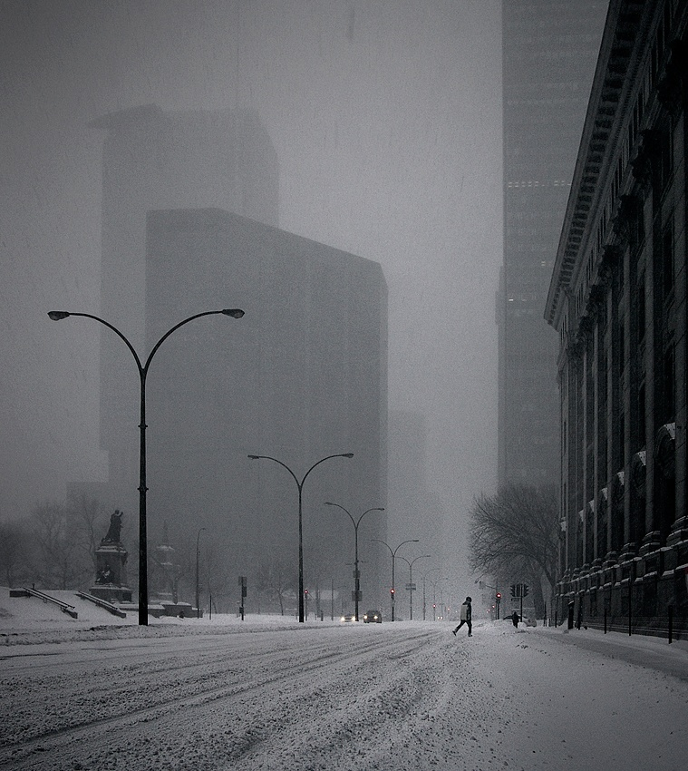 A piece of fine art art photography titled White Town by Mario Jean