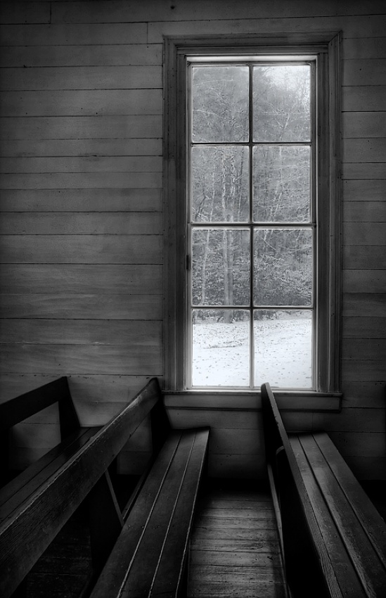 A piece of fine art art photography titled Winter Window by Amy Weiss
