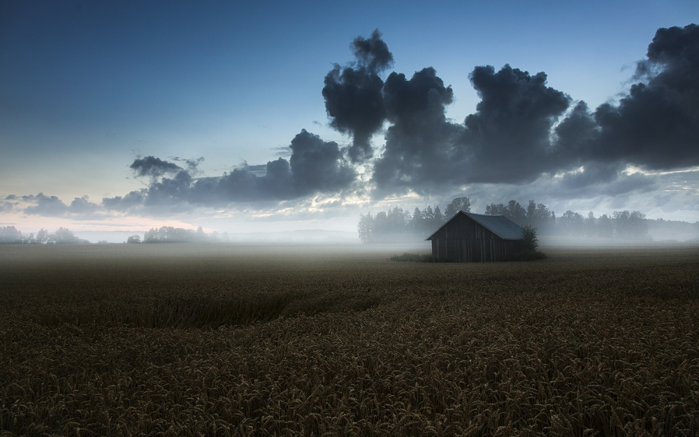 A piece of fine art art photography titled The Same Old Barn by Mika Suutari