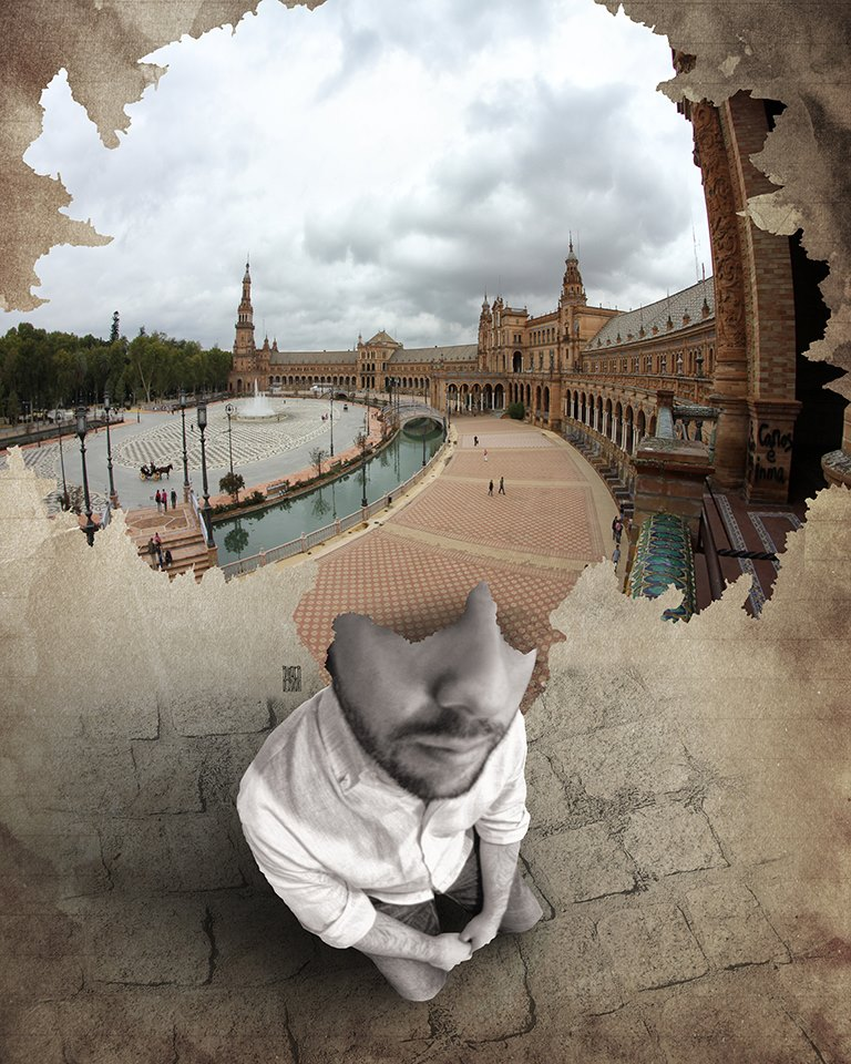 A piece of fine art art photography titled Where Is My Mind 031 Plaza De España, Sevilla - Spain by Aidan Sartin Conte