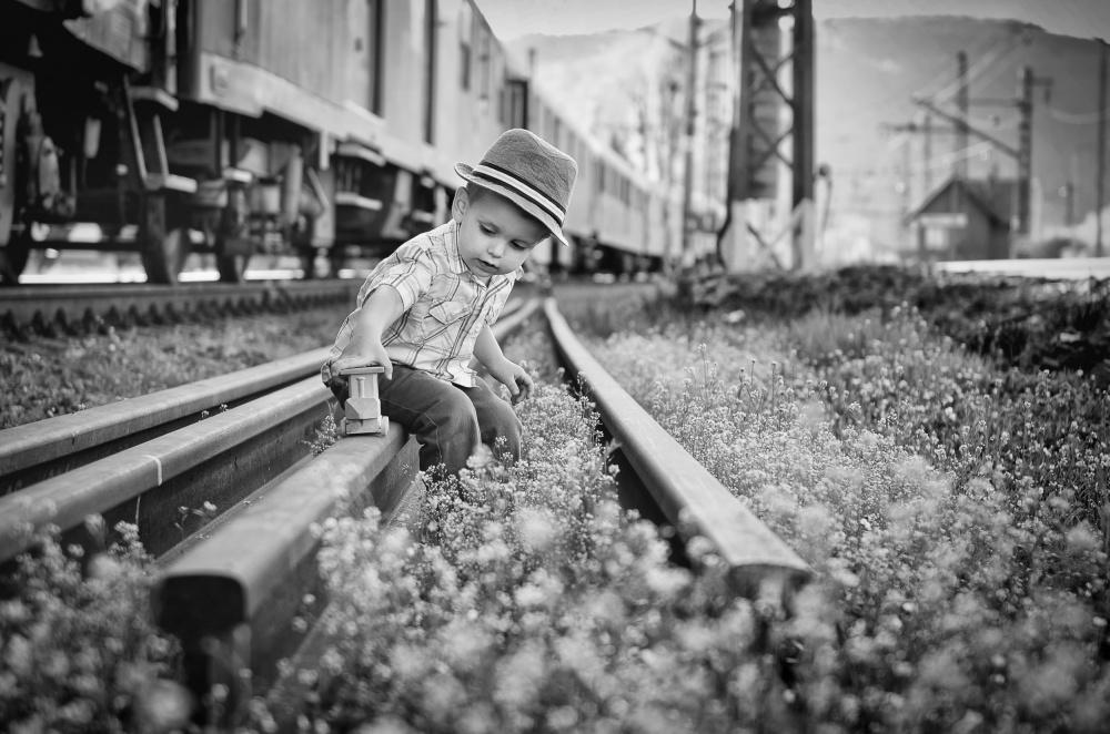 A piece of fine art art photography titled My Little Son by Lubomir Cervenec