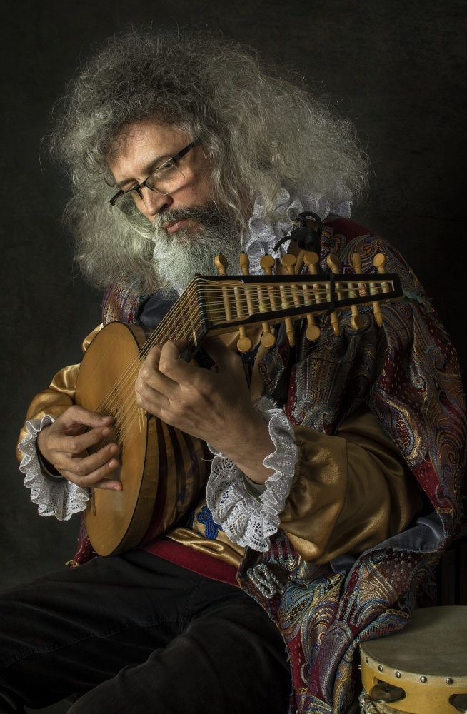 A piece of fine art art photography titled Finding Caravaggio - Singers the Lute by Grigore Roibu