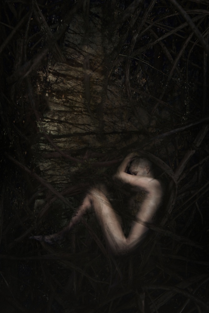 A piece of fine art art photography titled The Deepest and Darkest by Andrea Domjan