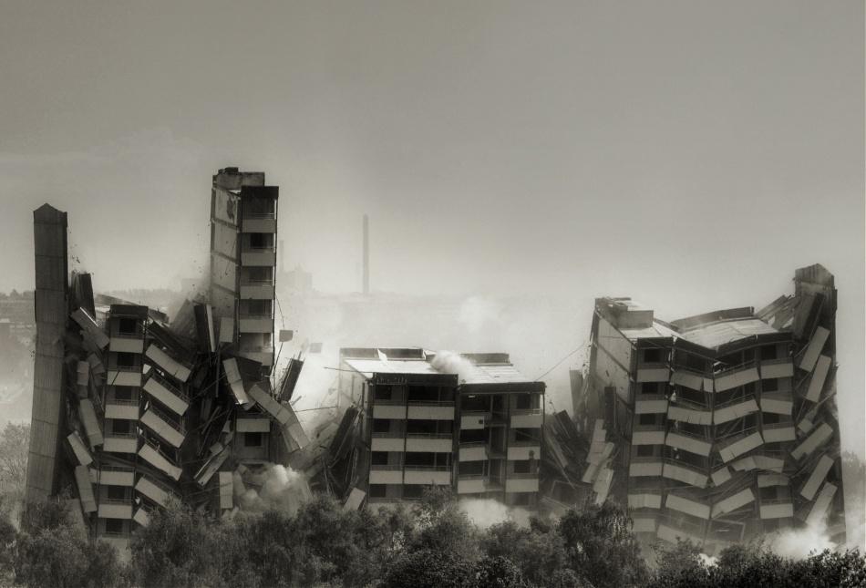 A piece of fine art art photography titled Demolition Zone by Lotte Grønkjær