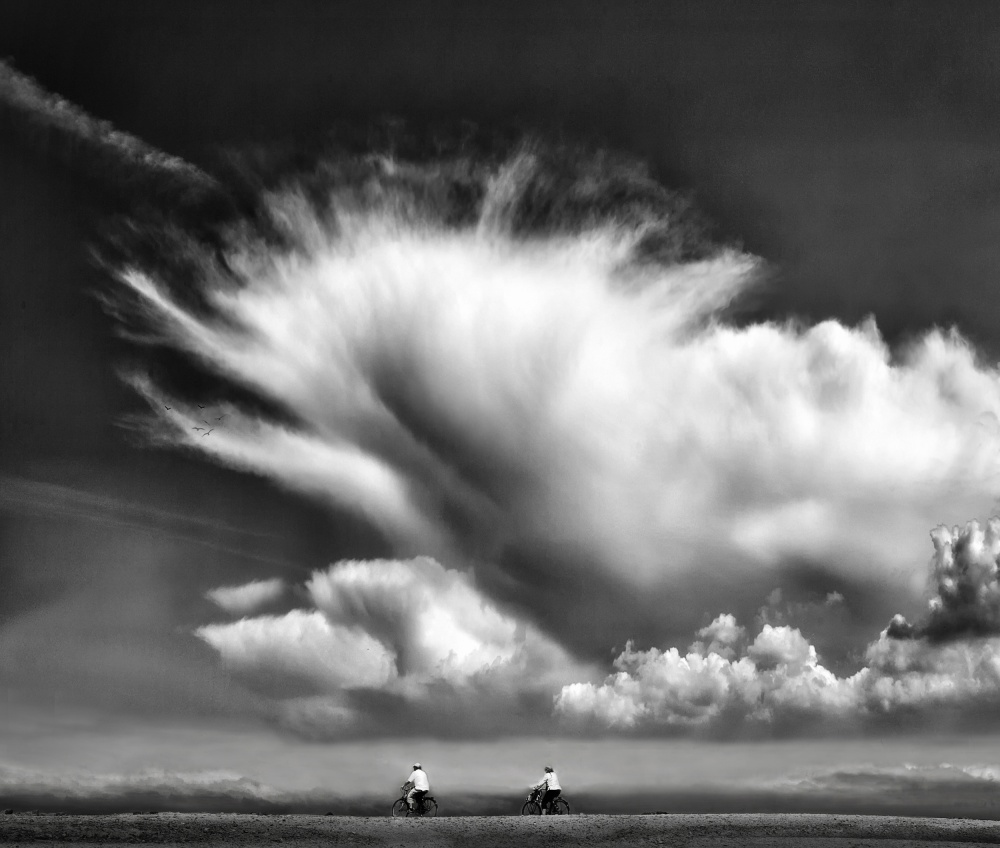 A piece of fine art art photography titled Amongst the Clouds  by Yvette Depaepe