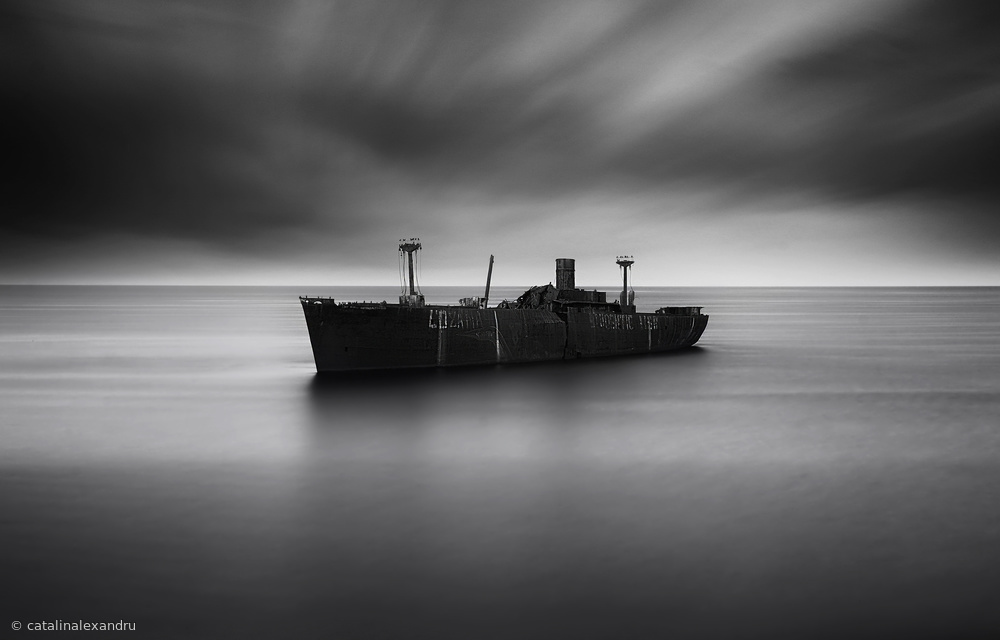 A piece of fine art art photography titled Wreck Evanghelia by catalin alexandru