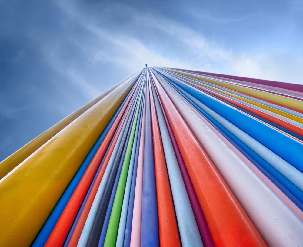 A piece of fine art art photography titled Rainbow from a Cloud by Nadav Jonas