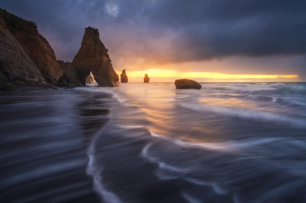 A piece of fine art art photography titled Raging Tide by Tim Fan