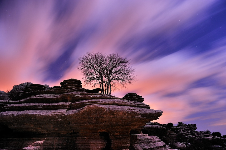 A piece of fine art art photography titled Aferrado a La Roca by Francisco Mingorance