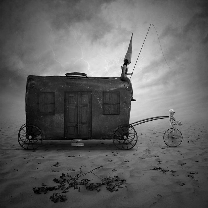 A piece of fine art art photography titled Forgotten Wanderers by Leszek Bujnowski