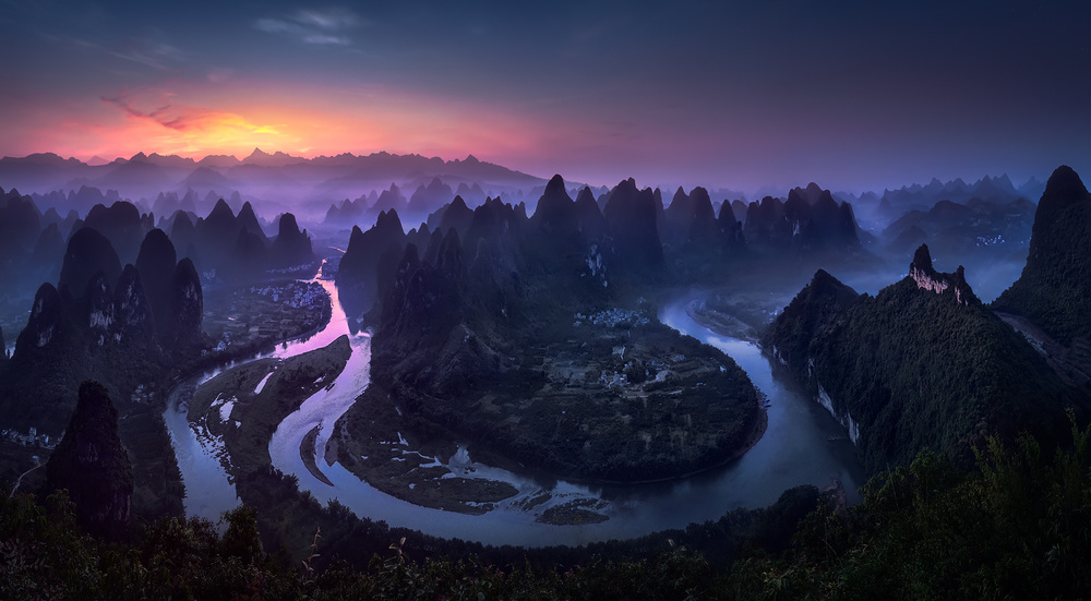 A piece of fine art art photography titled Good Morning from Damianshan - China by Jesús M. García