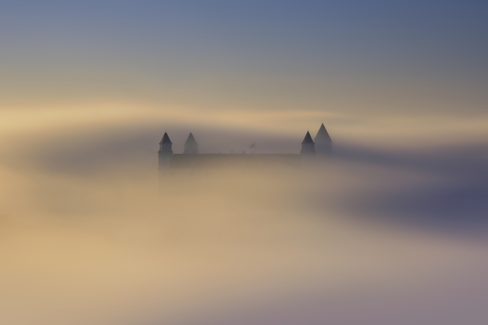 A piece of fine art art photography titled Floating Castle by Matej Kovac