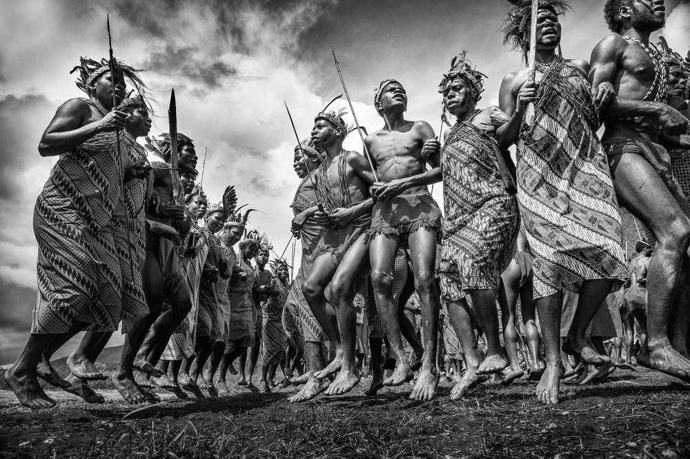 View this piece of fine art photography titled Arfak Dance by Thaib Chaidar