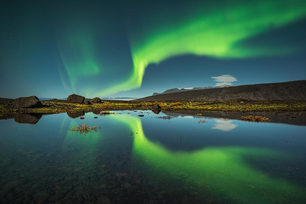 A piece of fine art art photography titled Norðurljós by Raymond Hoffmann