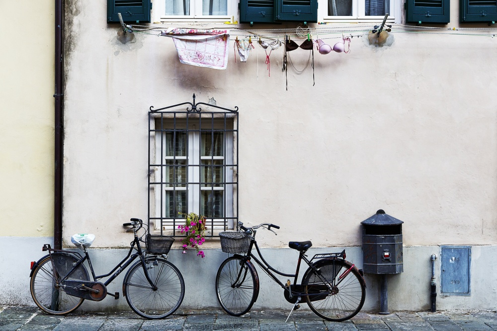 A piece of fine art art photography titled Two Bicycles by franco maffei