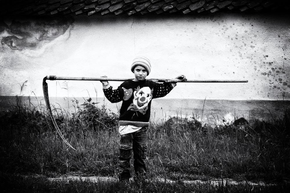 A piece of fine art art photography titled Just a Boy by Sebastiæn
