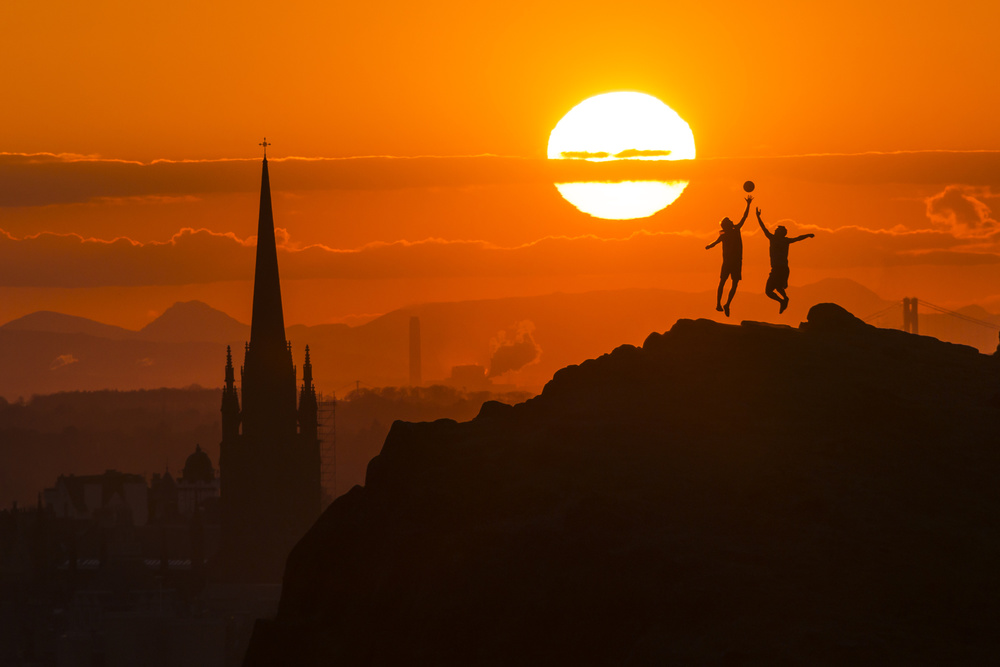 A piece of fine art art photography titled Edinburgh Tip Off by Tom Duffin
