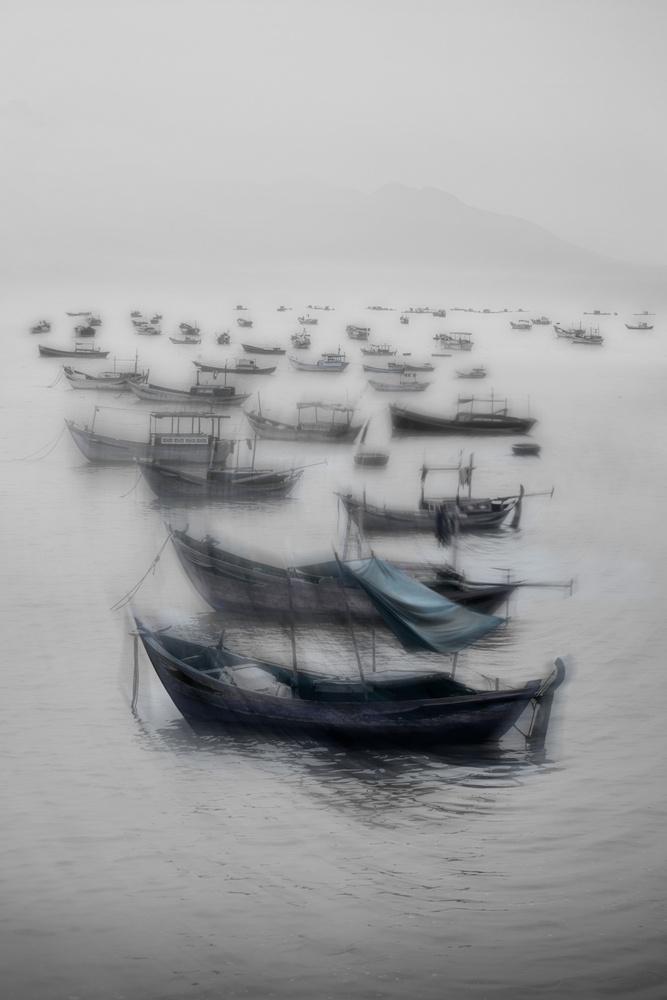 A piece of fine art art photography titled Vietnamese Boats by Svetlin Yosifov