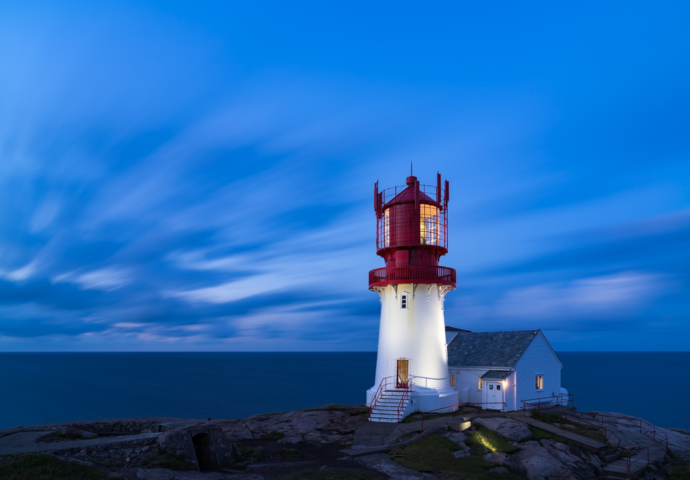 Lindesnes fyr - lighthouse in the south of Norway
