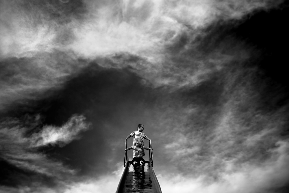 A piece of fine art art photography titled On Top of the World by Kapuschinsky