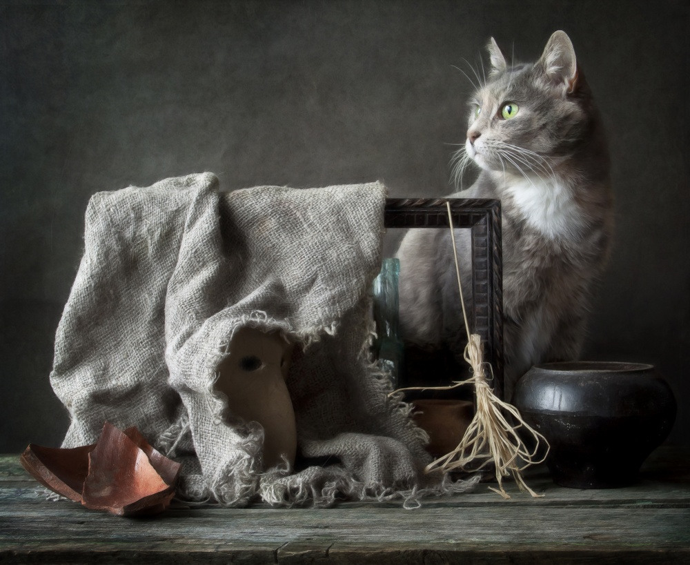 A piece of fine art art photography titled The Witch by Eleonora Grigorjeva