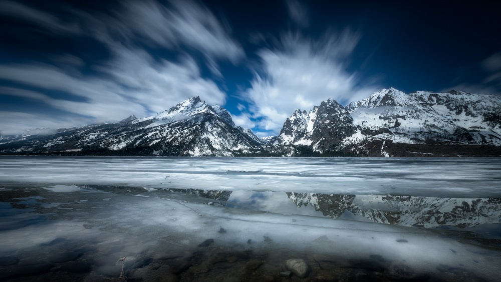 A piece of fine art art photography titled Jenny Lake by Simon Roppel