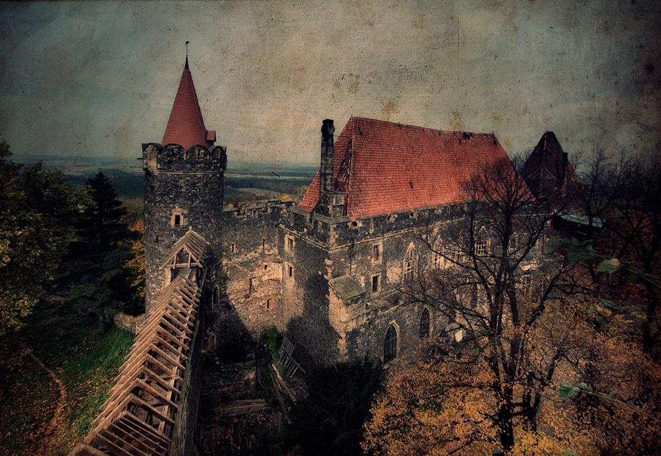 A piece of fine art art photography titled Castle Grodziec by Piotr Cichosz