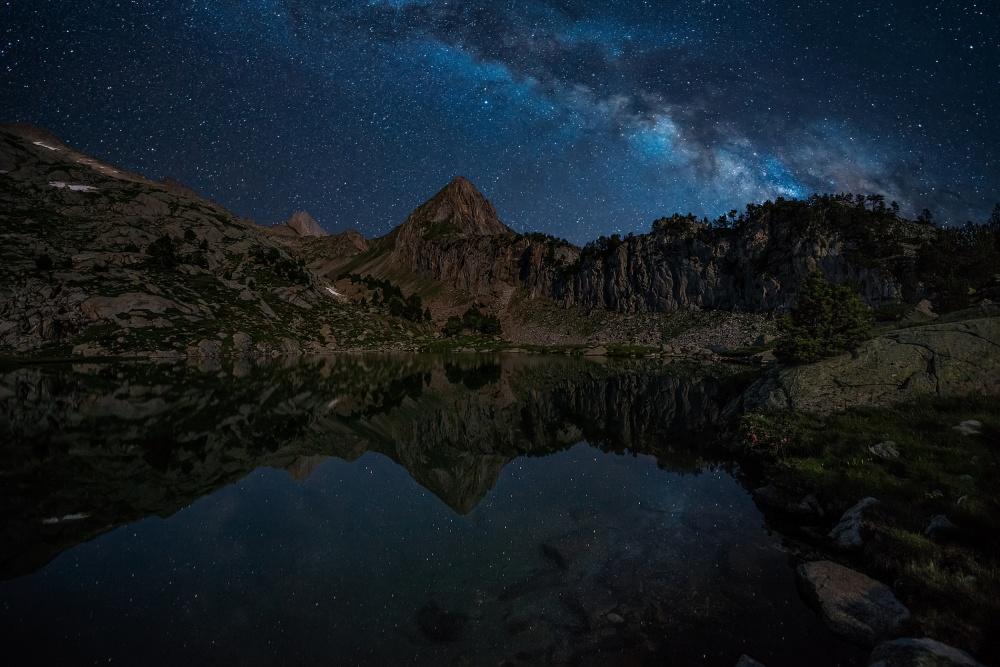 A piece of fine art art photography titled Mountain Lake by David Martín Castán