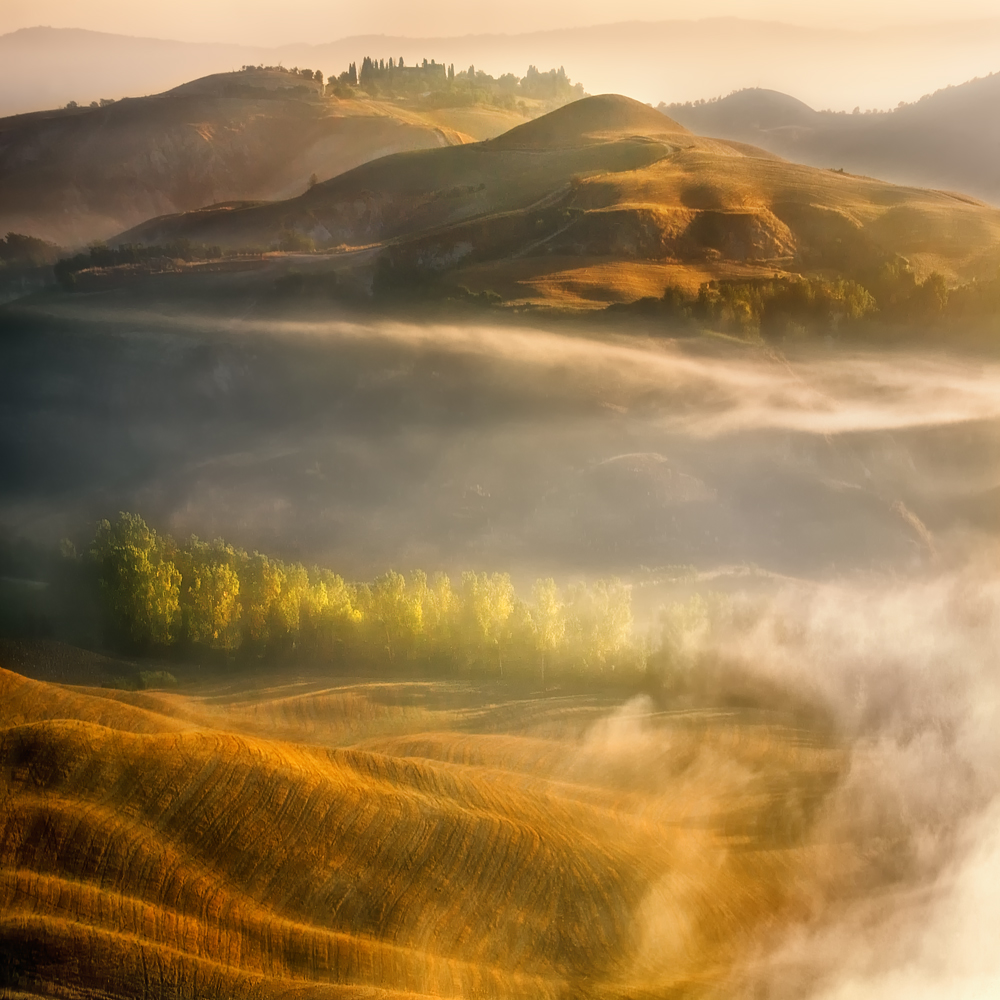 A piece of fine art art photography titled Mists by Krzysztof Browko