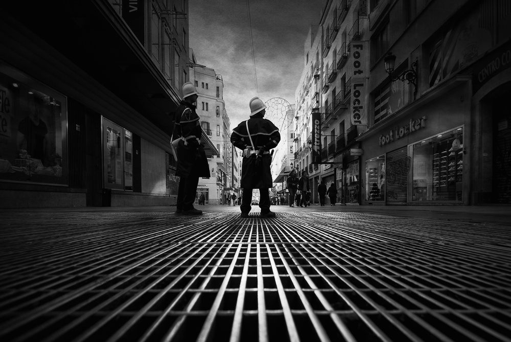 A piece of fine art art photography titled The Police by Jose C. Lobato