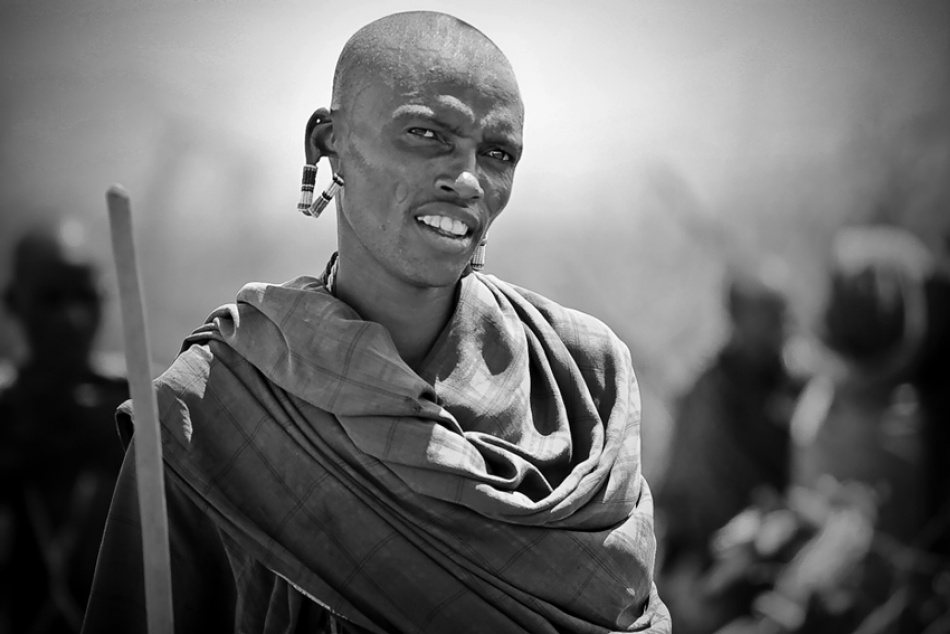 A piece of fine art art photography titled Masai by Pawel Klarecki