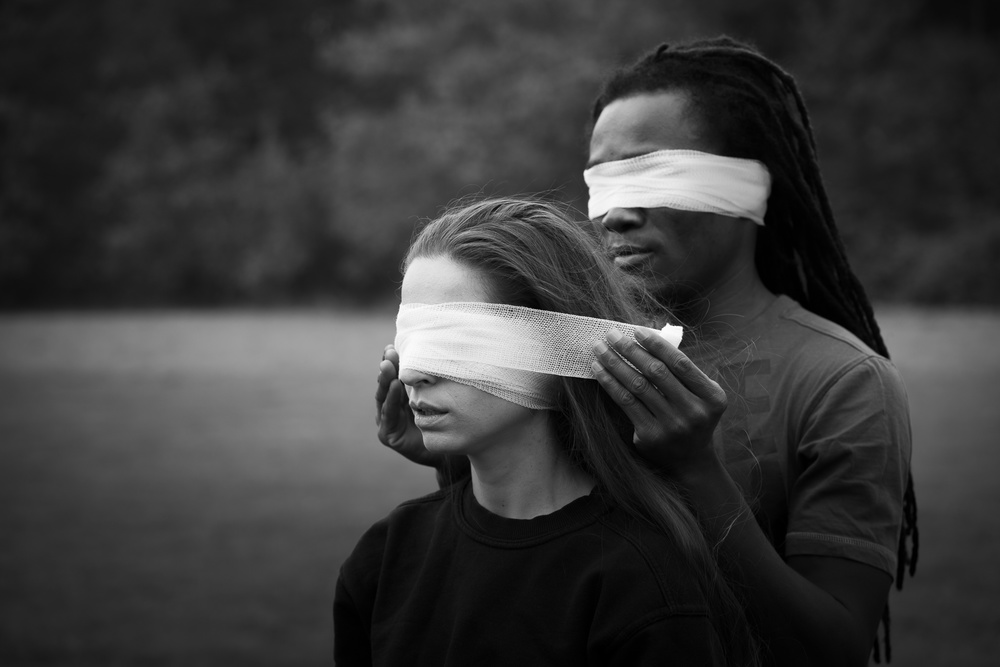 A piece of fine art art photography titled Blindfolded by Frank Gustrau