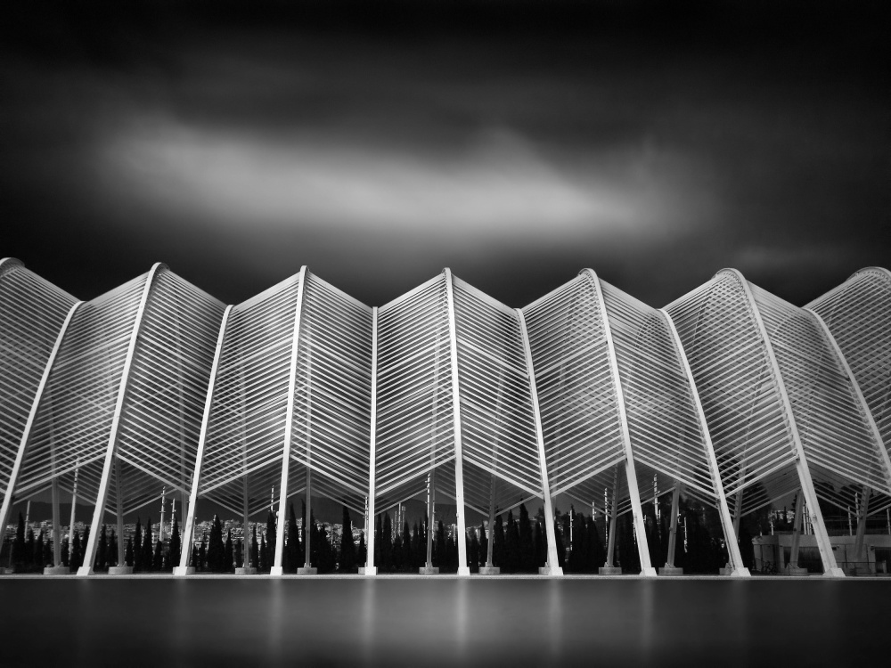 A piece of fine art art photography titled Lines Shape the World the Agora by Kerstin Arnemann