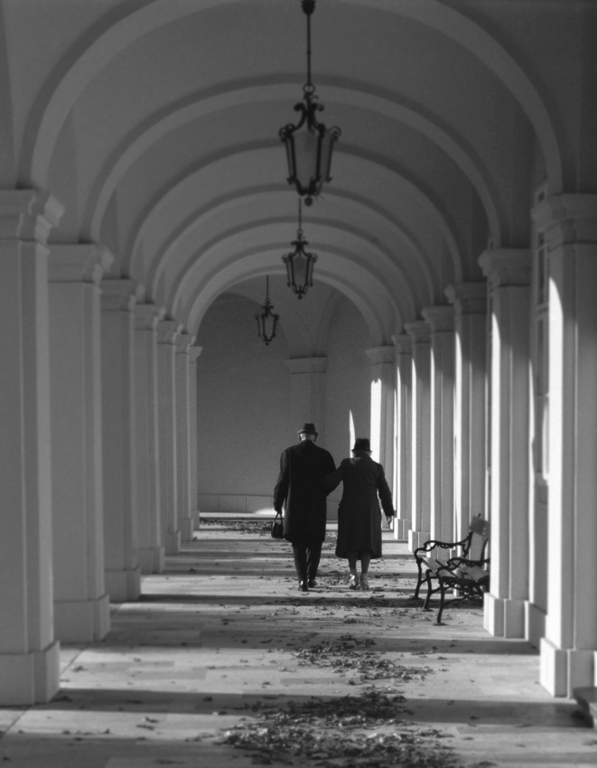 A piece of fine art art photography titled Vienna Couple by kerry pittenger