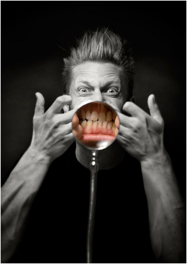 A piece of fine art art photography titled Jaws by Mats Lilja