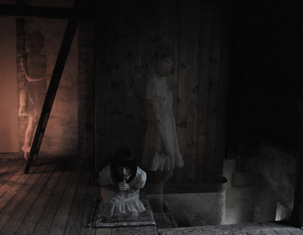 A piece of fine art art photography titled Ghosts In the Attic by Victoria Hellner