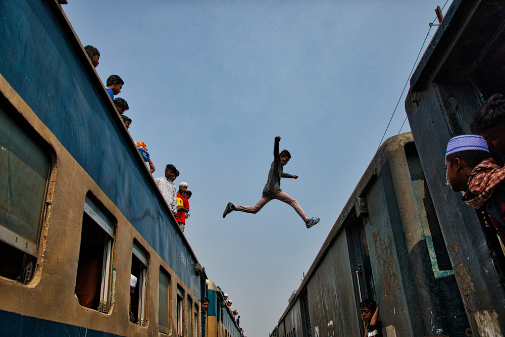 A piece of fine art art photography titled Life Risk Journey by Azim Khan Ronnie